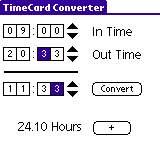 TimeCard Converter in action!